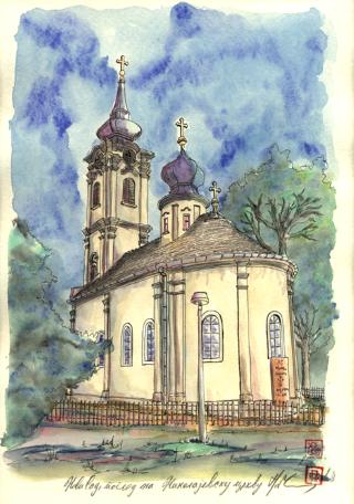 800 NS pogled na Nikolajevsku crkvu (Mobile)