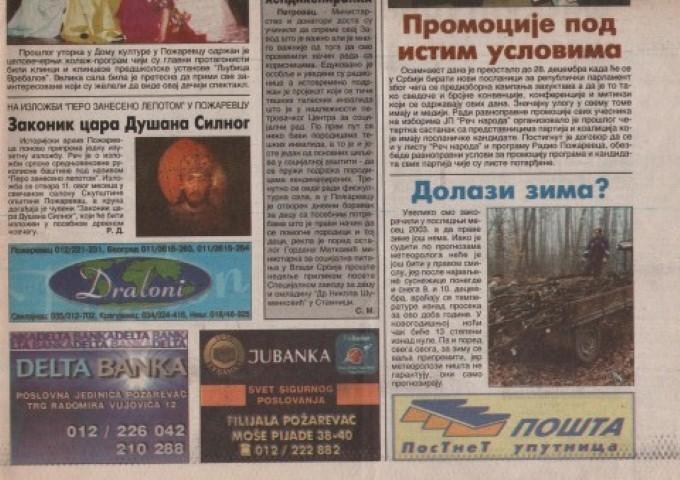 Požarevačke novine- Reč naroda-2003. (Small)